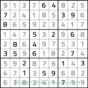 9x9 sudoku cevabı